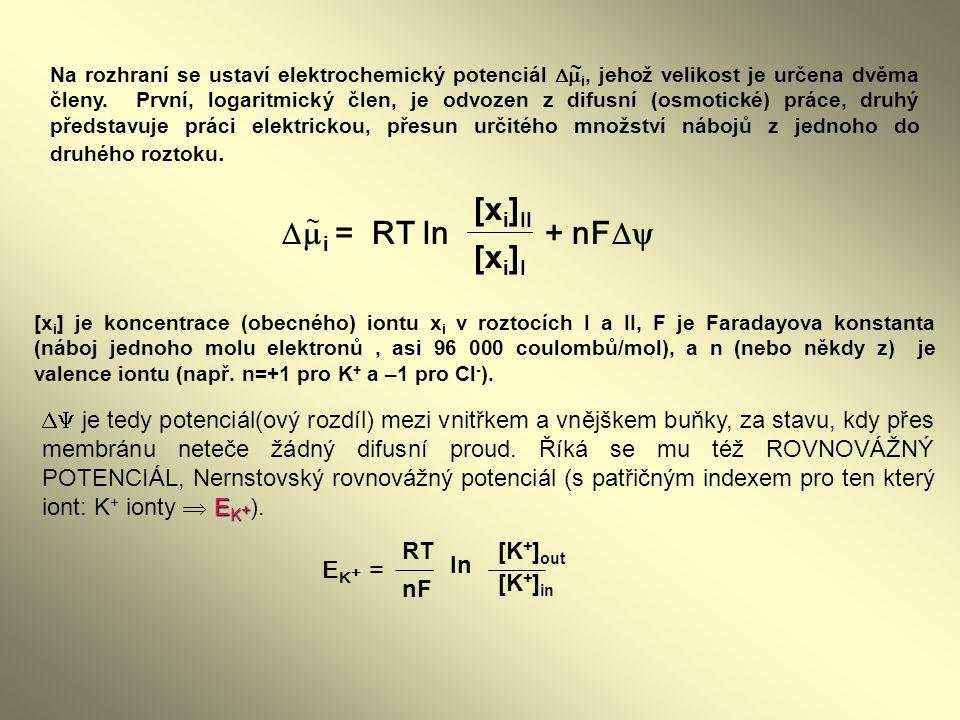 [xi]II mi = RT ln + nFD [xi]I ~